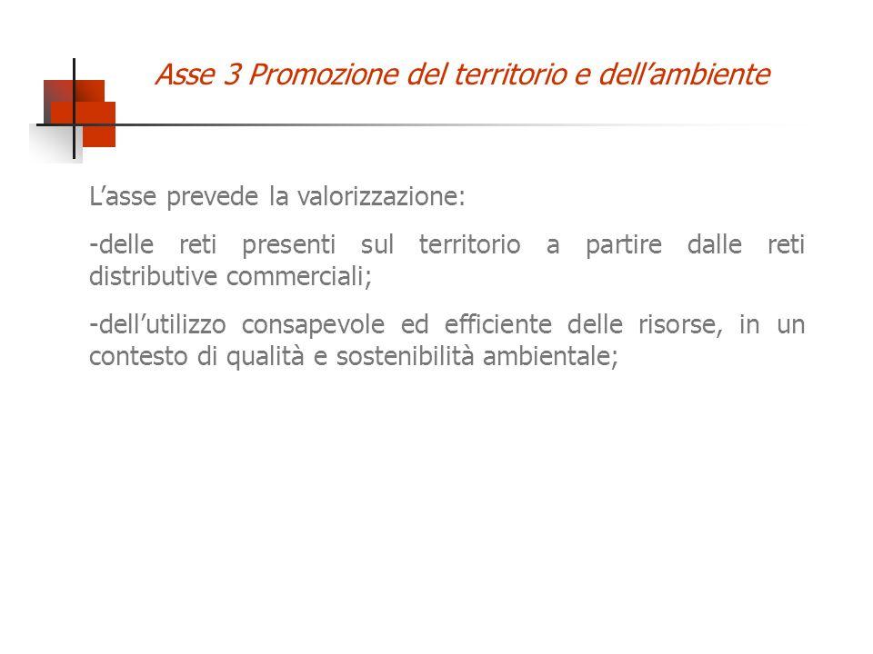 Lasse prevede la valorizzazione: -delle reti presenti sul territorio a partire dalle reti distributive commerciali; -dellutilizzo consapevole ed effic