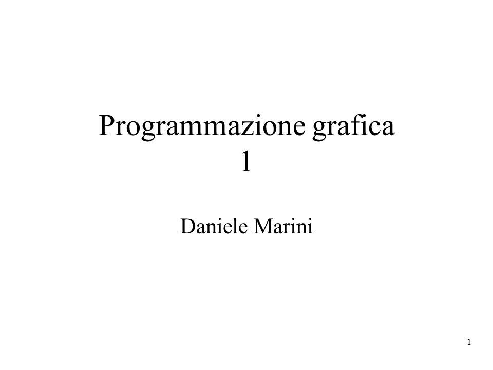 2 Linguaggio di riferimento OpenGL: libreria di procedure che realizza un API (application programmers interface) –Standard de facto –Disponibile su windows, mac, IRIX, Solaris –Linux dispone di librerie free Mesa - subset di OpenGL –La struttura semantica è simile a quella di altre librerie: GKS, Direct3D, Java3D