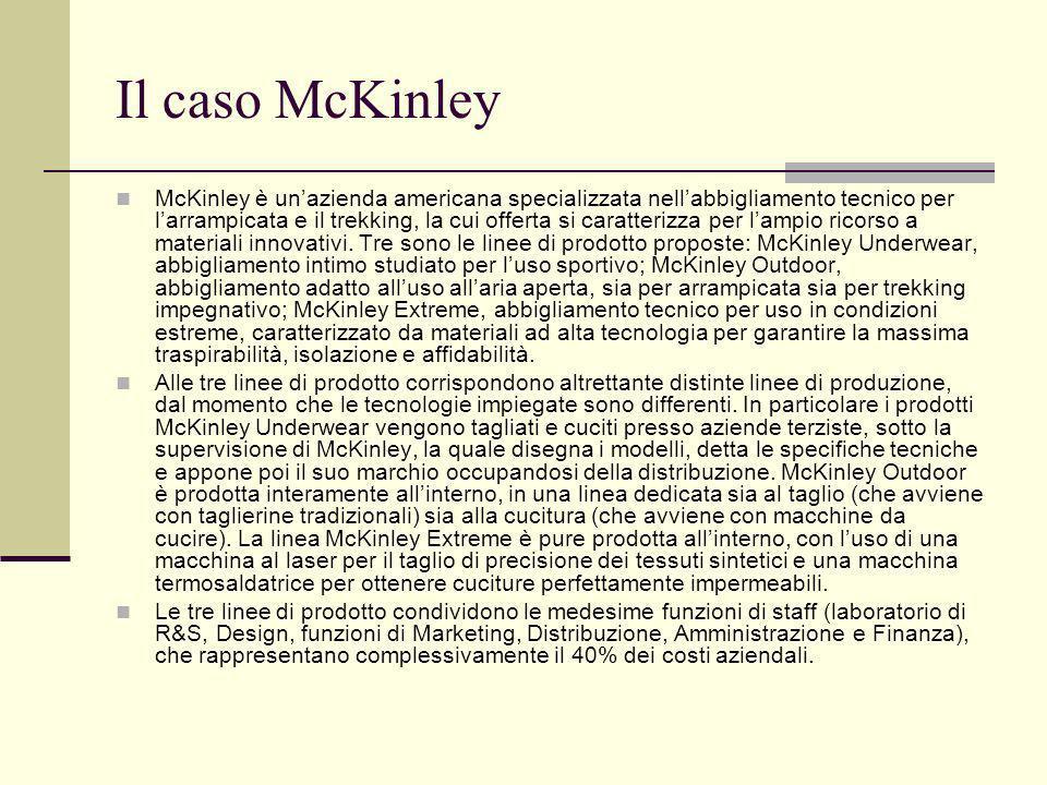 Il caso McKinley McKinley è unazienda americana specializzata nellabbigliamento tecnico per larrampicata e il trekking, la cui offerta si caratterizza