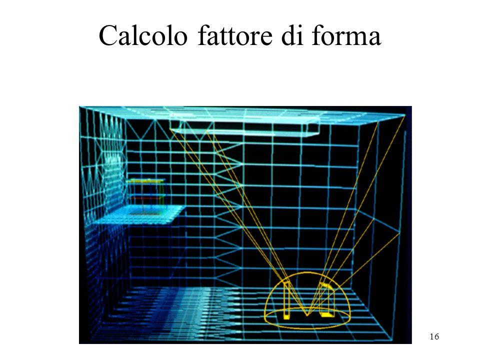 16 Calcolo fattore di forma