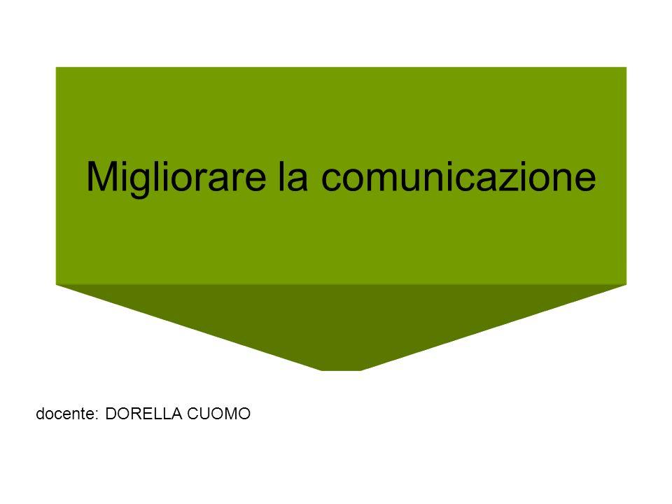 Migliorare la comunicazione docente: DORELLA CUOMO