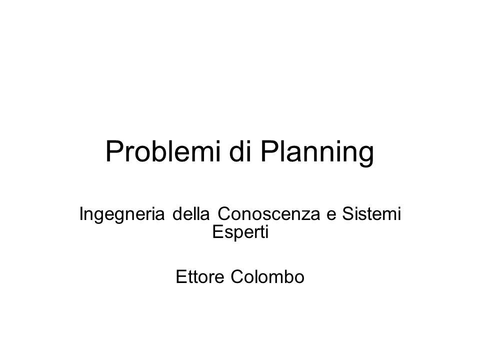 Problemi di Planning Ingegneria della Conoscenza e Sistemi Esperti Ettore Colombo