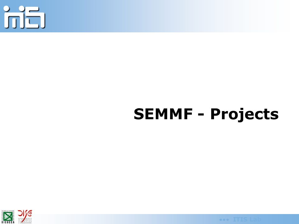 ITIS Lab SEMMF - Projects