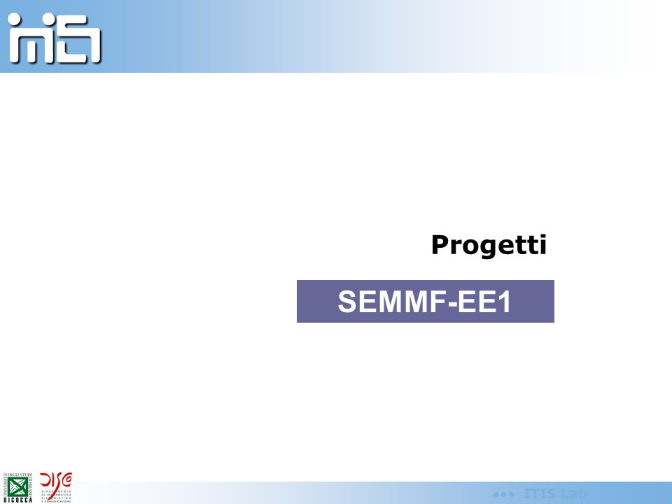 ITIS Lab Progetti SEMMF-EE1
