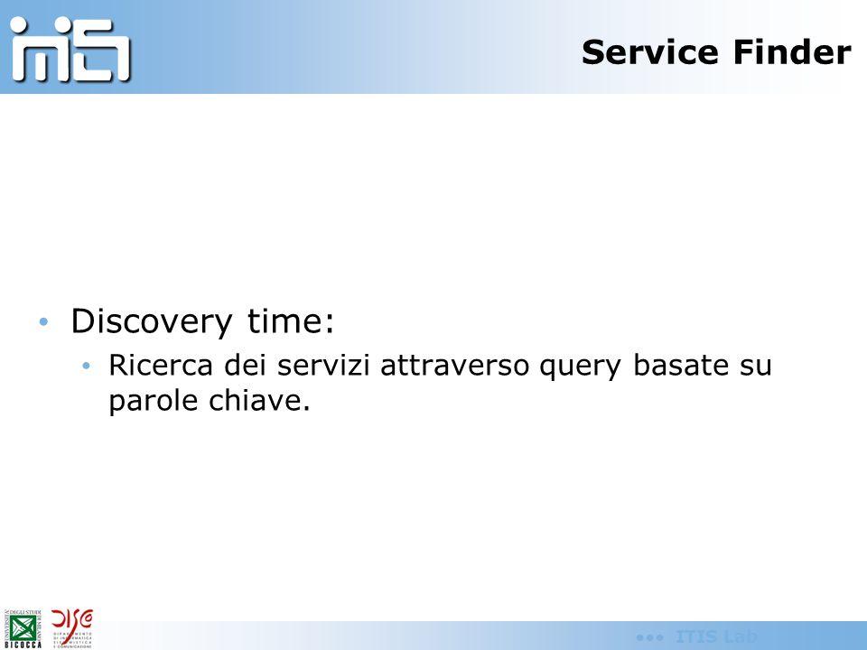 ITIS Lab Design time Accesso ad un repository contente le descrizioni semantiche (files OWL-S) dei Web services.