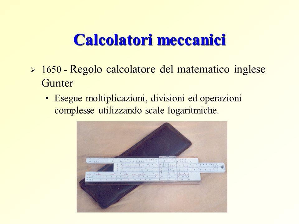 Calcolatori meccanici 1650 - Regolo calcolatore del matematico inglese Gunter Esegue moltiplicazioni, divisioni ed operazioni complesse utilizzando sc