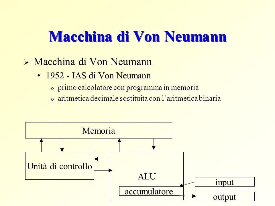 Macchina di Von Neumann 1952 - IAS di Von Neumann o primo calcolatore con programma in memoria o aritmetica decimale sostituita con laritmetica binari