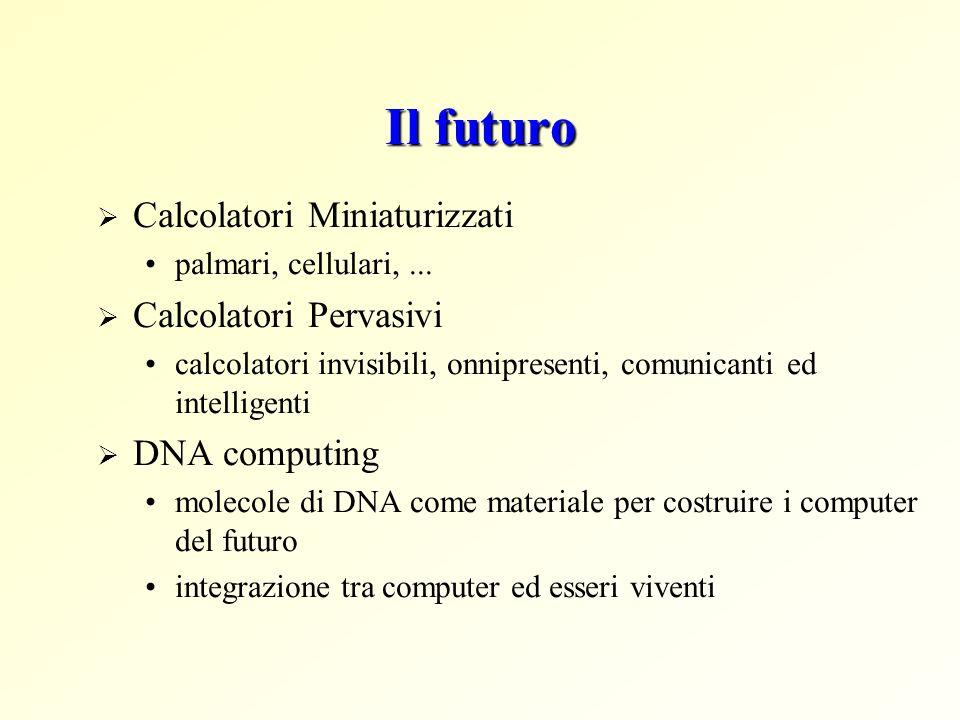 Il futuro Calcolatori Miniaturizzati palmari, cellulari,...