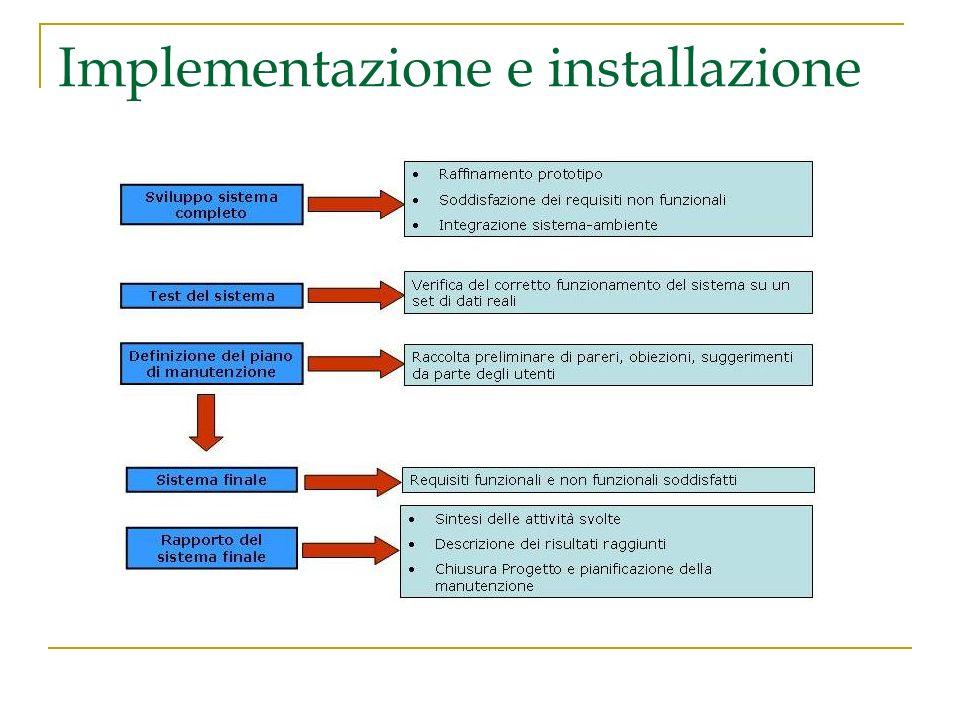Implementazione e installazione