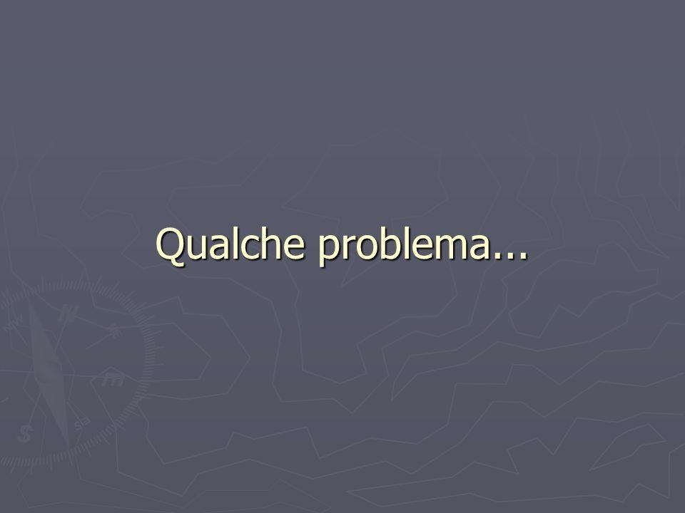 Qualche problema...