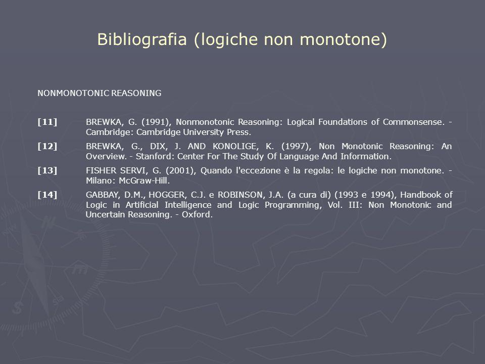 NONMONOTONIC REASONING [11]BREWKA, G.
