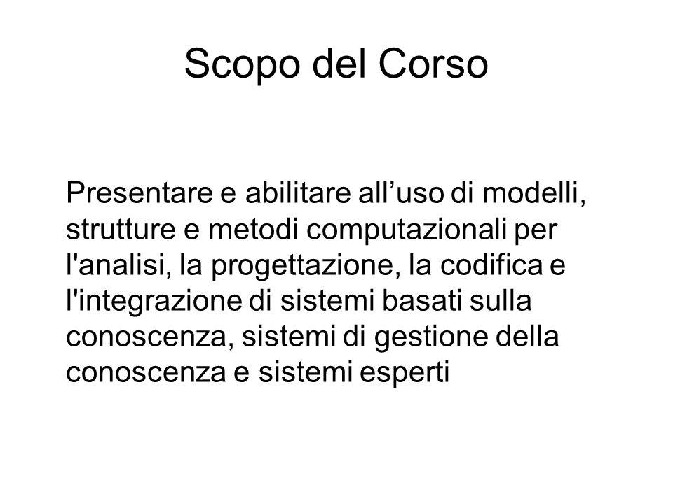 Scopo del Corso Presentare e abilitare alluso di modelli, strutture e metodi computazionali per l'analisi, la progettazione, la codifica e l'integrazi