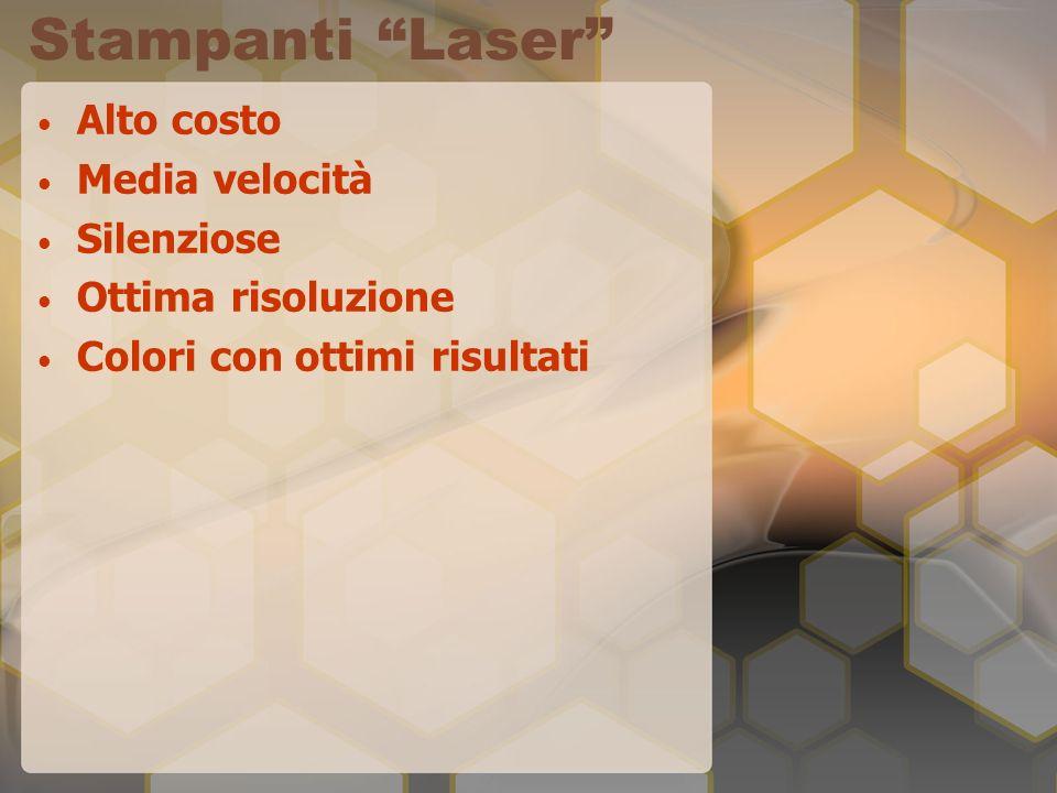 Stampanti Laser Alto costo Media velocità Silenziose Ottima risoluzione Colori con ottimi risultati