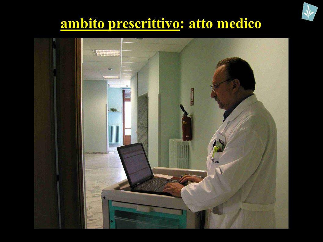 ambito prescrittivo: atto medico