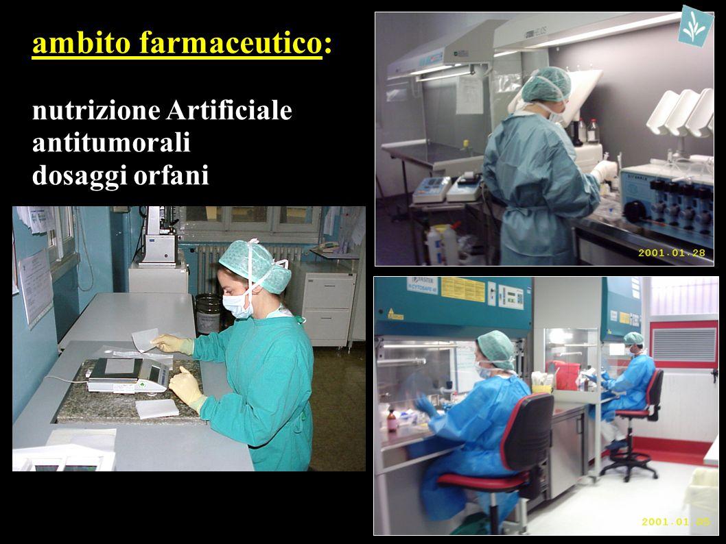 ambito farmaceutico: nutrizione Artificiale antitumorali dosaggi orfani