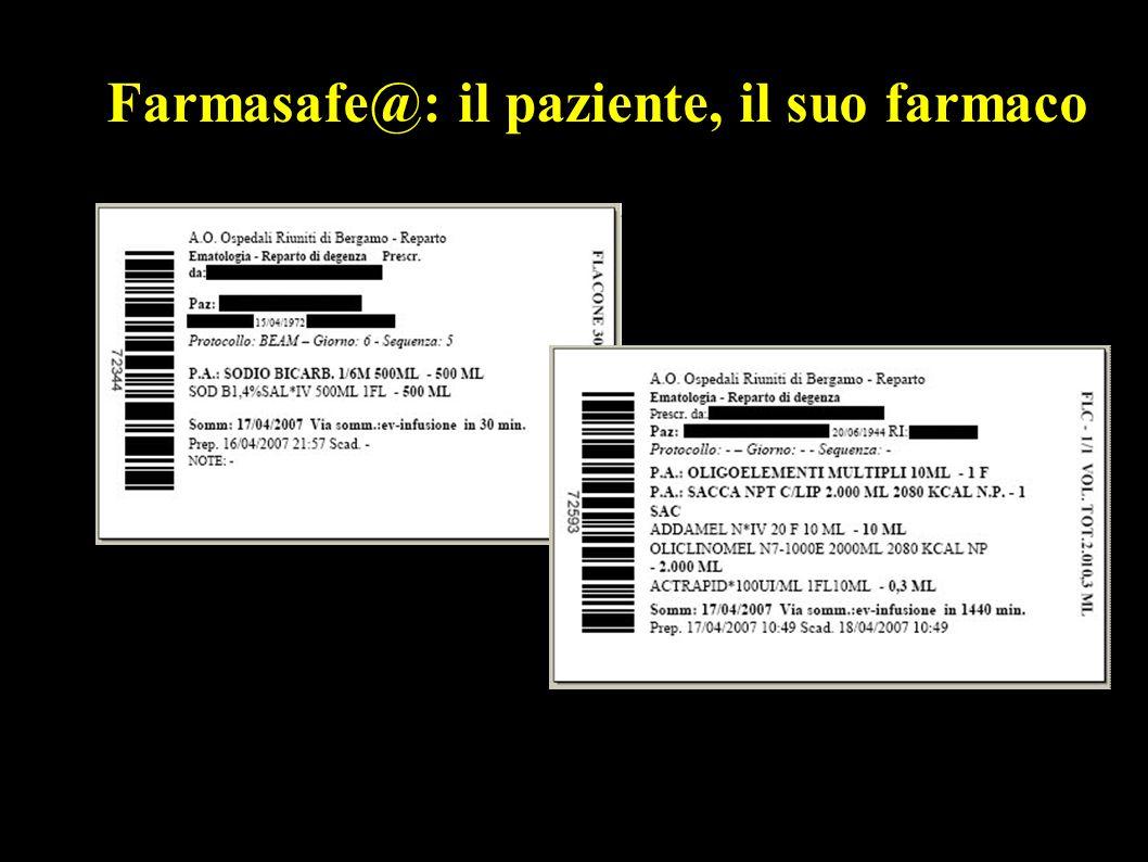 Farmasafe@: il paziente, il suo farmaco