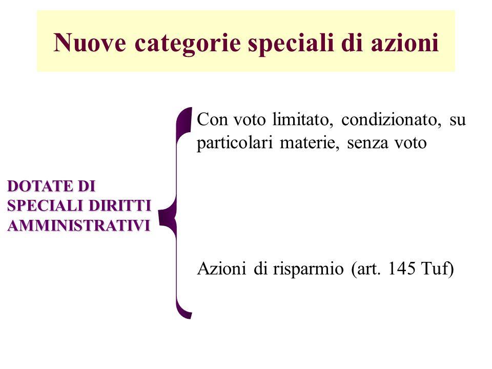 Clausole di limitazione del controllo A) Limiti statutari al possesso azionario (validi se operano per tutti i soci); B) Tetti di voto (art.