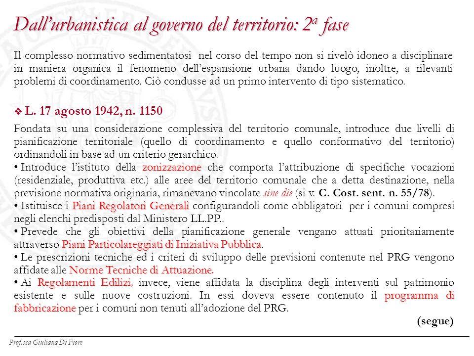 Tra i numerosi interventi normativi successivi alla l.