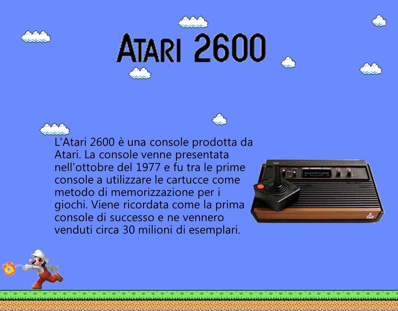L'Atari 2600 è una console prodotta da Atari. La console venne presentata nell'ottobre del 1977 e fu tra le prime console a utilizzare le cartucce com