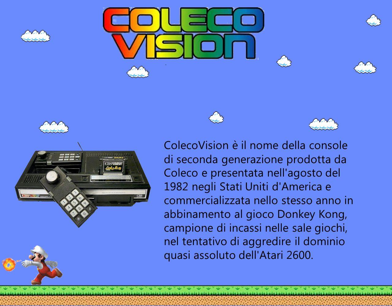 ColecoVision è il nome della console di seconda generazione prodotta da Coleco e presentata nell'agosto del 1982 negli Stati Uniti d'America e commerc