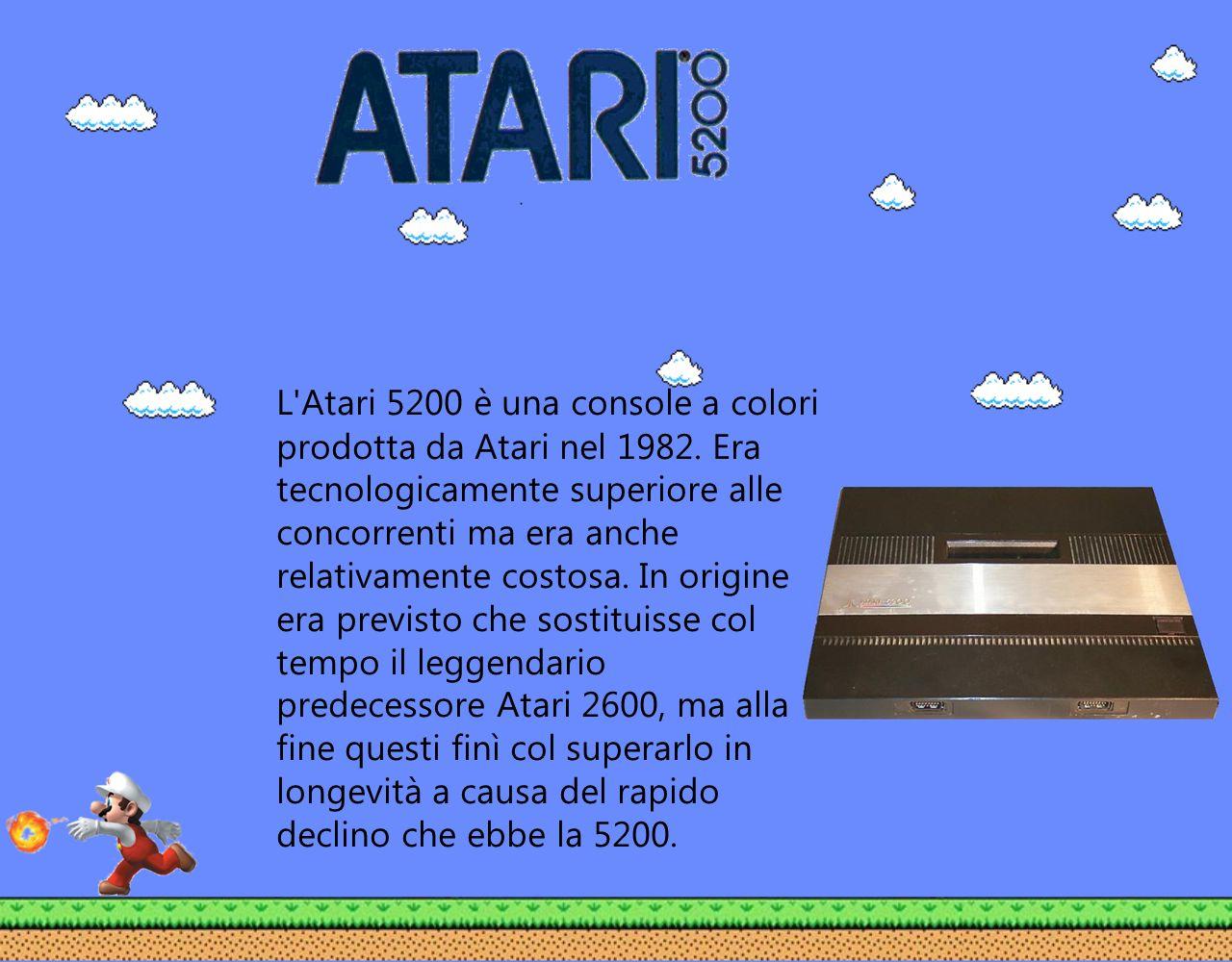 L'Atari 5200 è una console a colori prodotta da Atari nel 1982. Era tecnologicamente superiore alle concorrenti ma era anche relativamente costosa. In