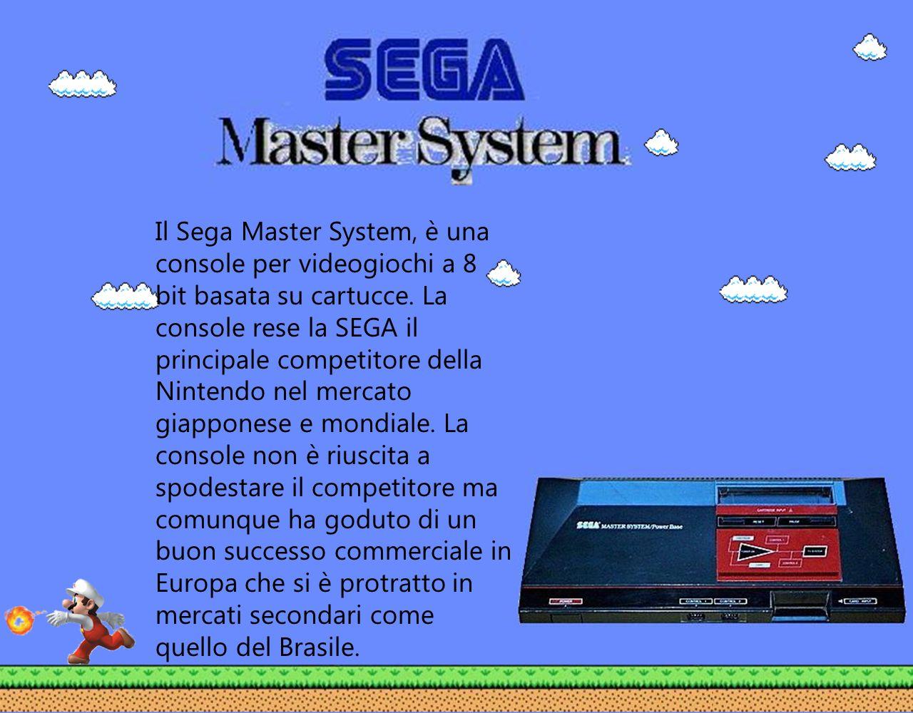 Il Sega Master System, è una console per videogiochi a 8 bit basata su cartucce. La console rese la SEGA il principale competitore della Nintendo nel
