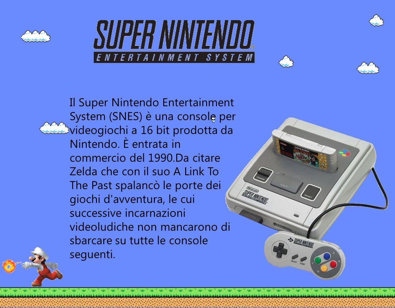 Il Super Nintendo Entertainment System (SNES) è una console per videogiochi a 16 bit prodotta da Nintendo. È entrata in commercio del 1990.Da citare Z
