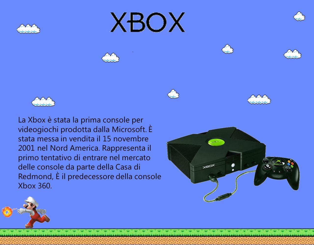 La Xbox è stata la prima console per videogiochi prodotta dalla Microsoft. È stata messa in vendita il 15 novembre 2001 nel Nord America. Rappresenta