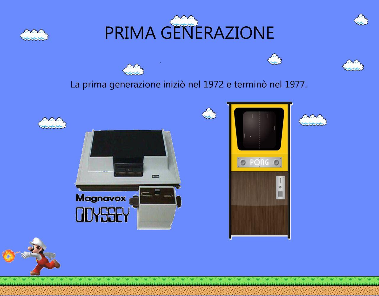 PRIMA GENERAZIONE La prima generazione iniziò nel 1972 e terminò nel 1977.