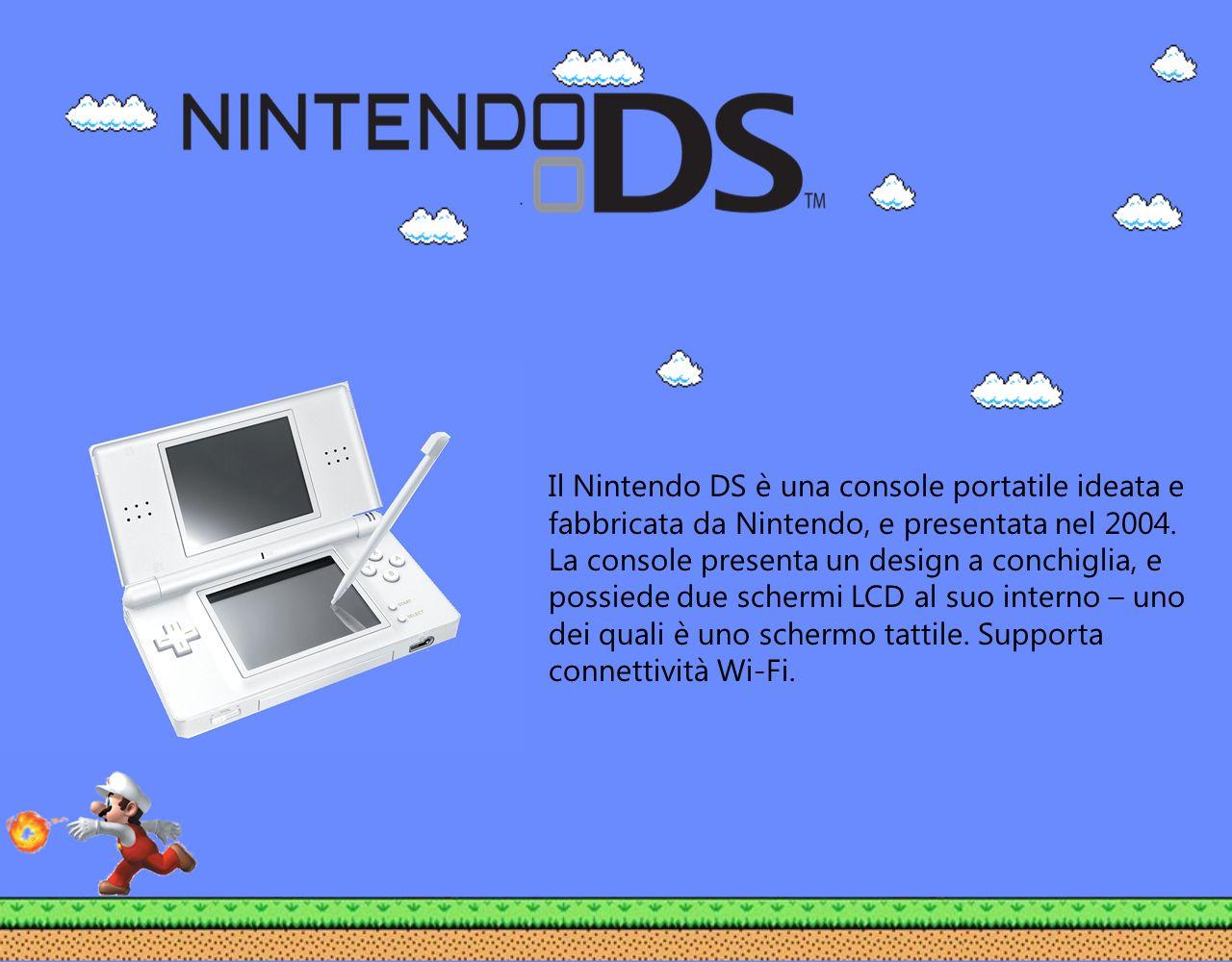 Il Nintendo DS è una console portatile ideata e fabbricata da Nintendo, e presentata nel 2004. La console presenta un design a conchiglia, e possiede
