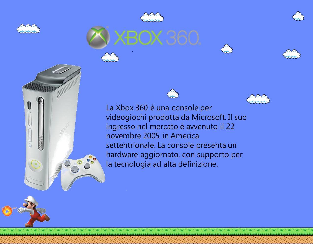 La Xbox 360 è una console per videogiochi prodotta da Microsoft. Il suo ingresso nel mercato è avvenuto il 22 novembre 2005 in America settentrionale.