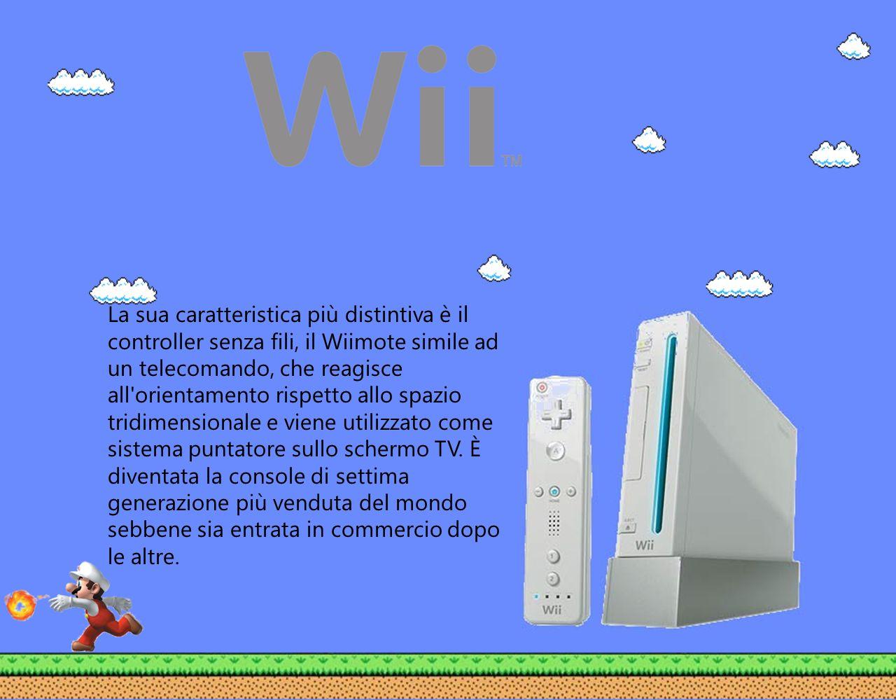 La sua caratteristica più distintiva è il controller senza fili, il Wiimote simile ad un telecomando, che reagisce all'orientamento rispetto allo spaz