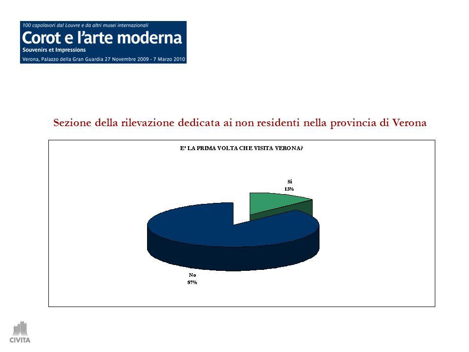 Sezione della rilevazione dedicata ai non residenti nella provincia di Verona