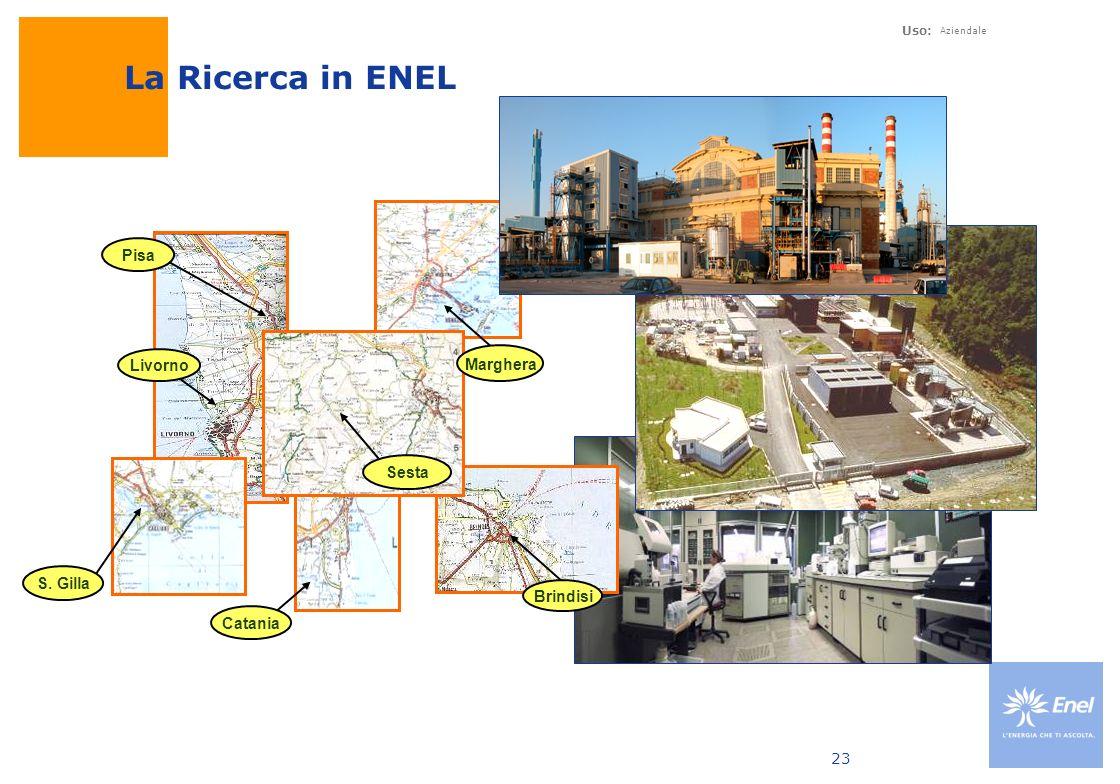 Uso: Aziendale 23 Pisa Sesta Brindisi Catania Livorno S. Gilla Marghera La Ricerca in ENEL