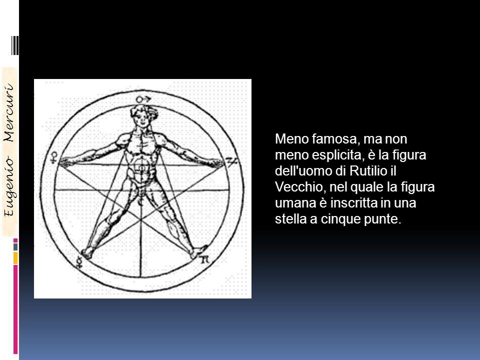 Eugenio Mercuri Meno famosa, ma non meno esplicita, è la figura dell'uomo di Rutilio il Vecchio, nel quale la figura umana è inscritta in una stella a