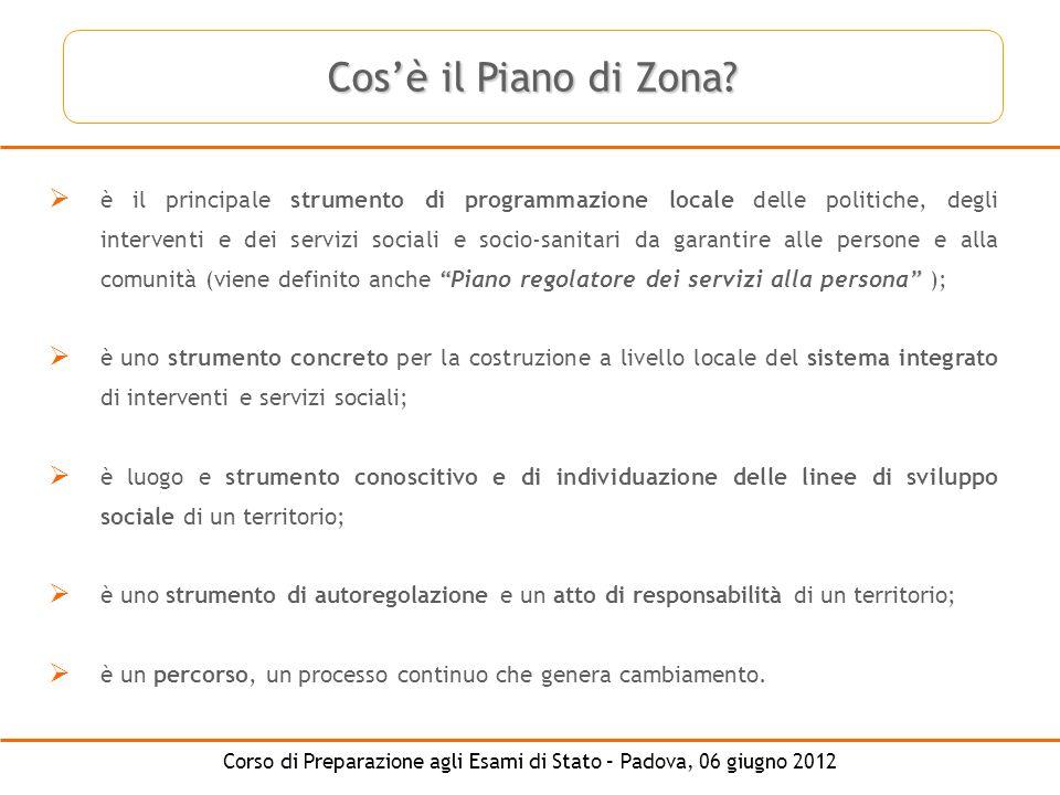 Corso di Preparazione agli Esami di Stato – Padova, 06 giugno 2012 è il principale strumento di programmazione locale delle politiche, degli intervent