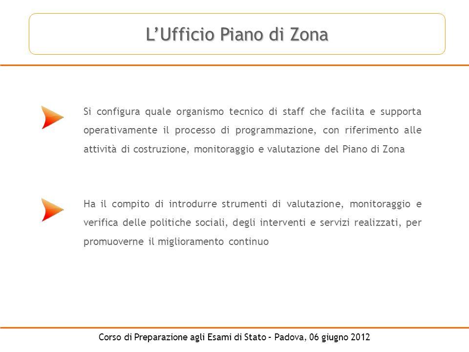Corso di Preparazione agli Esami di Stato – Padova, 06 giugno 2012 Si configura quale organismo tecnico di staff che facilita e supporta operativament
