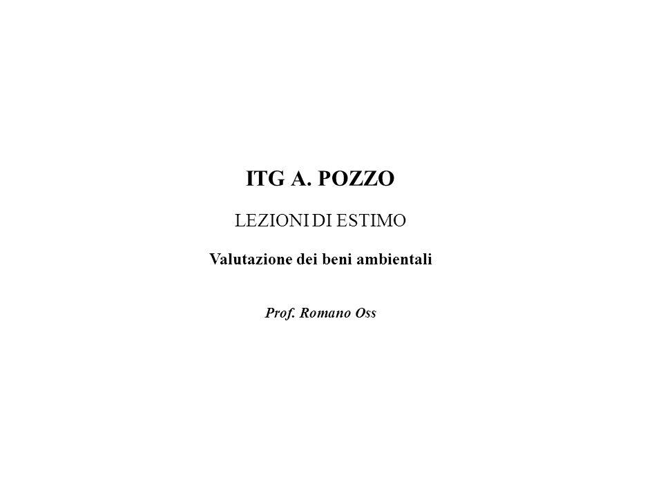 ITG A. POZZO LEZIONI DI ESTIMO Valutazione dei beni ambientali Prof. Romano Oss