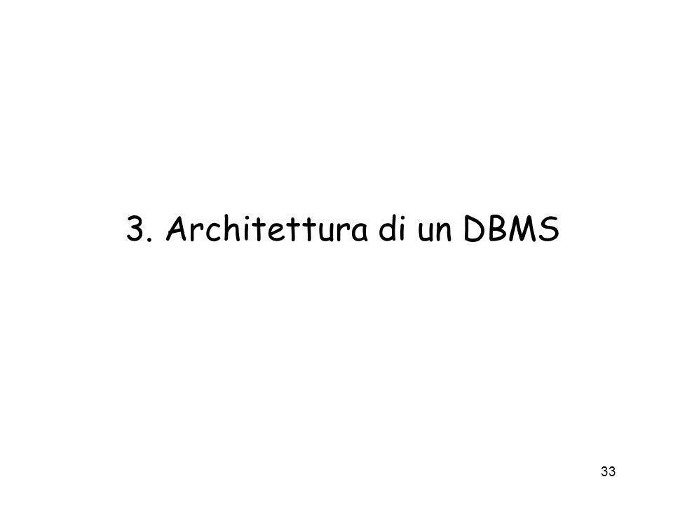 33 3. Architettura di un DBMS