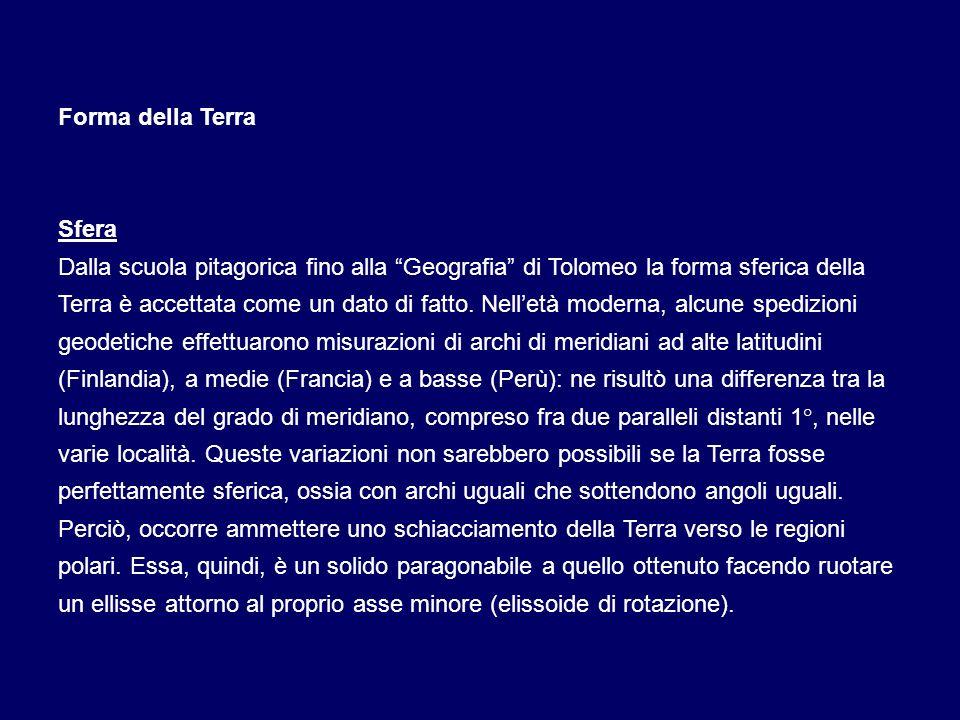 a) Sistema di riferimento geodetico nazionale ( Roma 40 ): ellissoide internazionale (Hayford) orientato a Roma M.Mario con dati astronomici del 1940.