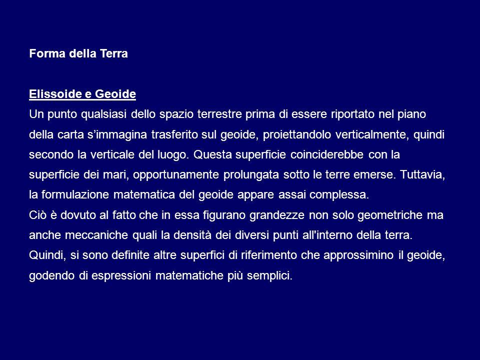 DATUM Roma40 (Monte Mario) Sviluppato dalla Commissione Geodetica Italiana nel 1940, ha sostituito il sistema precedentemente adottato dalla cartografia ufficiale italiana, che si basava sullellissoide di Bessel 1841.