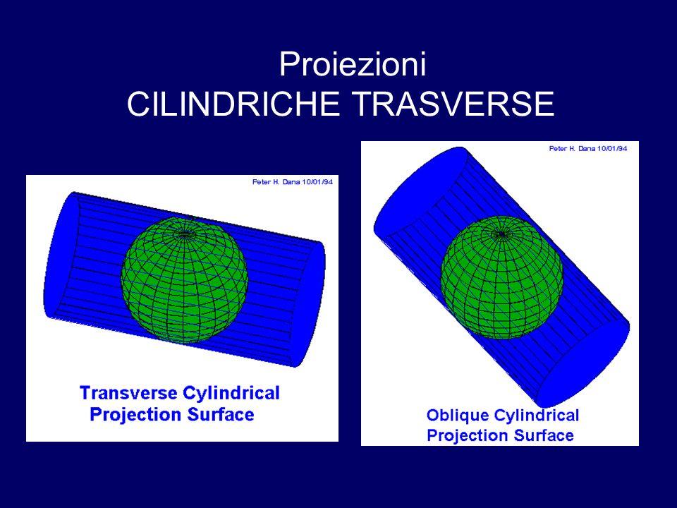 Proiezioni CILINDRICHE TRASVERSE