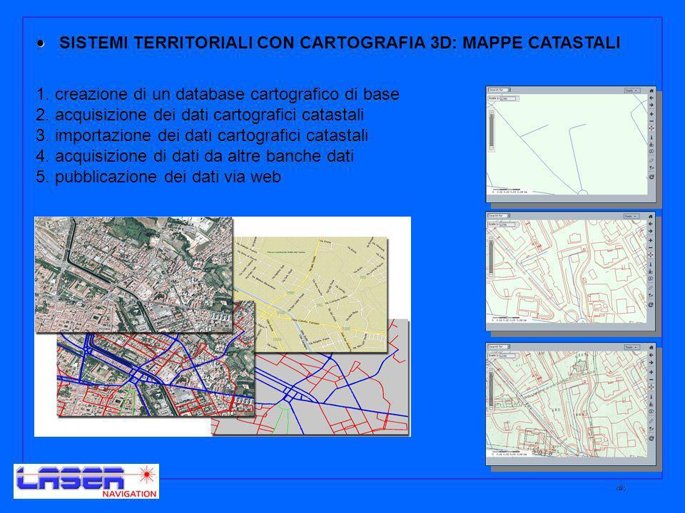 7 SISTEMI TERRITORIALI CON CARTOGRAFIA 3D: MAPPE CATASTALI 1.