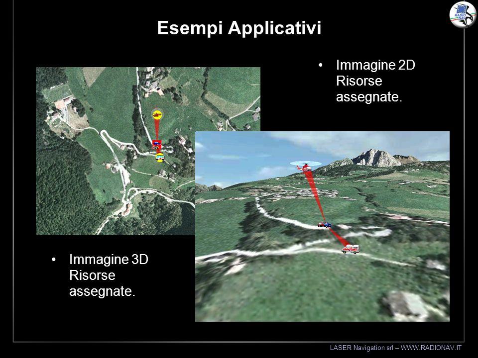 LASER Navigation srl – WWW.RADIONAV.IT Esempi Applicativi Immagine 2D Risorse assegnate. Immagine 3D Risorse assegnate.
