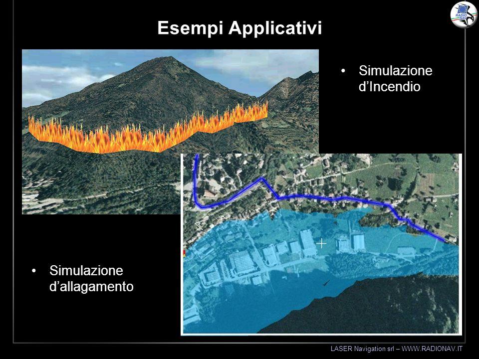 LASER Navigation srl – WWW.RADIONAV.IT Esempi Applicativi Simulazione dallagamento Simulazione dIncendio