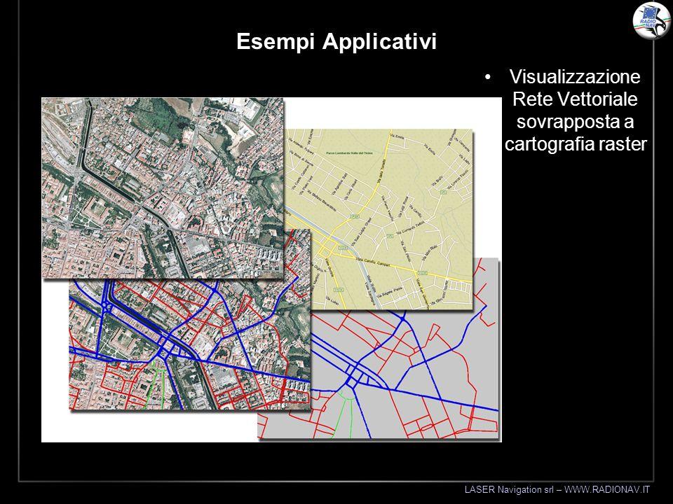 LASER Navigation srl – WWW.RADIONAV.IT Esempi Applicativi Visualizzazione Rete Vettoriale sovrapposta a cartografia raster