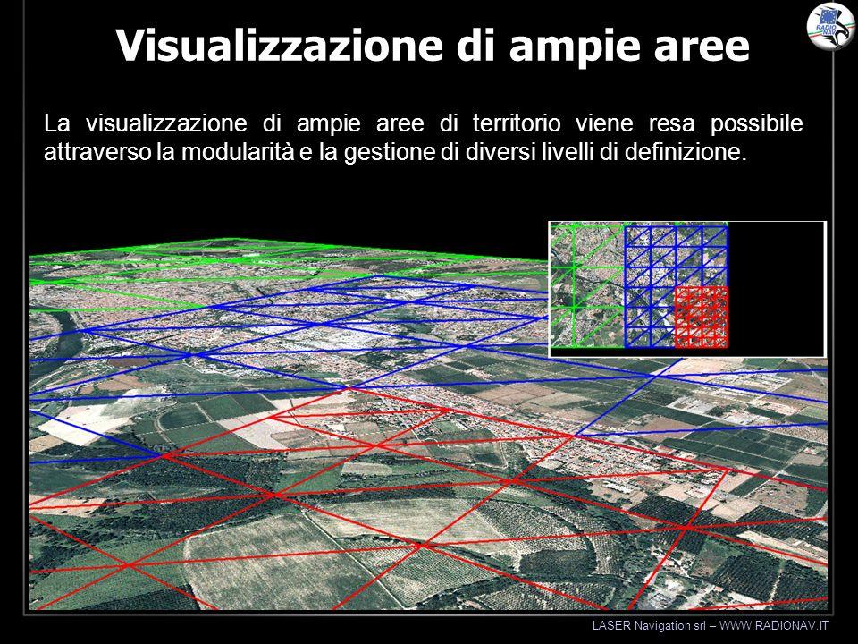 LASER Navigation srl – WWW.RADIONAV.IT Visualizzazione di ampie aree La visualizzazione di ampie aree di territorio viene resa possibile attraverso la