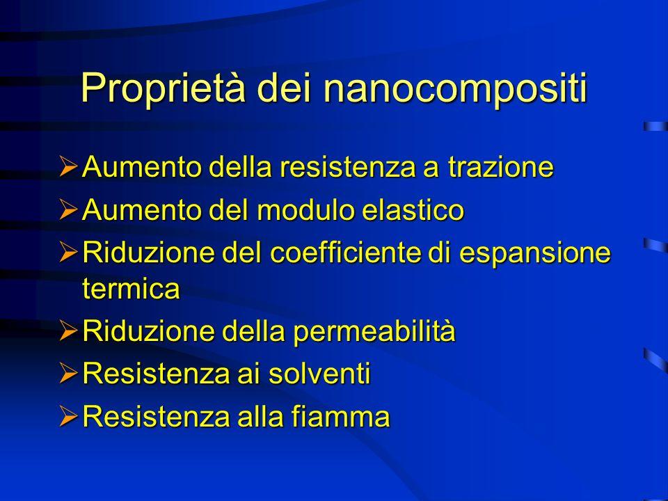 Proprietà del nanocomposito nylon 6/montmarilonite