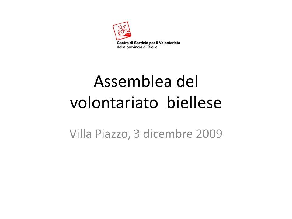 Assemblea del volontariato biellese Villa Piazzo, 3 dicembre 2009