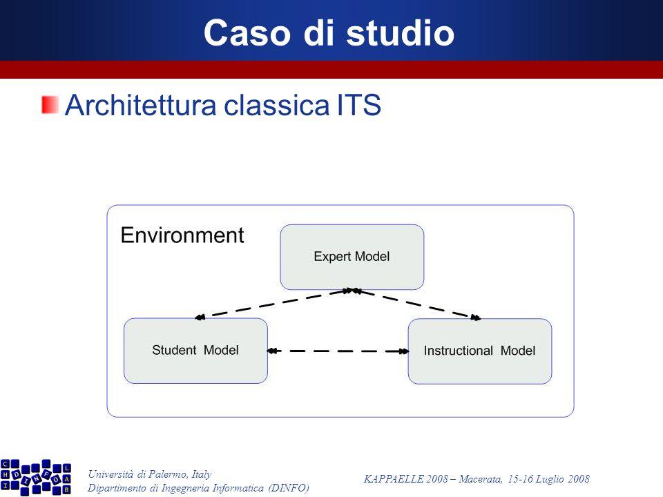 Università di Palermo, Italy Dipartimento di Ingegneria Informatica (DINFO) KAPPAELLE 2008 – Macerata, 15-16 Luglio 2008 Caso di studio Architettura classica ITS